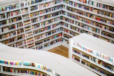 Books on White Book Shelves